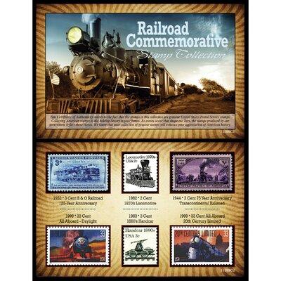 Railroad Commemorative Stamp Framed Memorabilia by American Coin Treasure