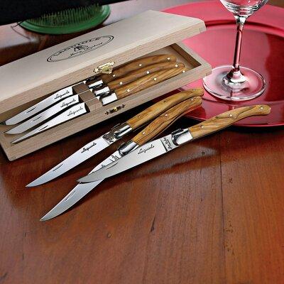 Laguiole 6 Piece Steak Knife Set by Jean Dubost