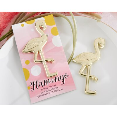 Fancy and Feathered Flamingo Bottle Opener by Kate Aspen