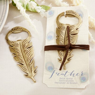 Gilded Feather Bottle Opener by Kate Aspen