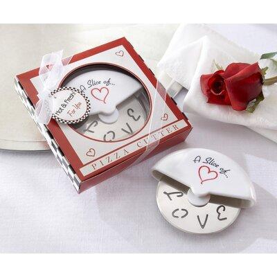 ''A Slice of Love'' Pizza Cutter in Miniature Pizza Box by Kate Aspen