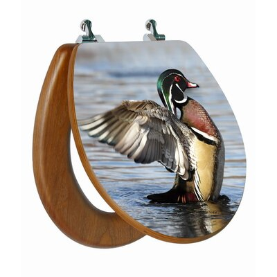 Topseat 3D Upland Series Wood Duck Round Toilet Seat