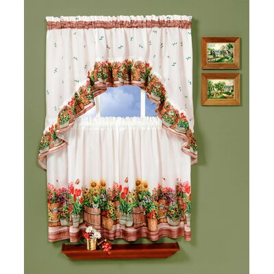 "Country Garden 57"" Valance and Tier Set Product Photo"