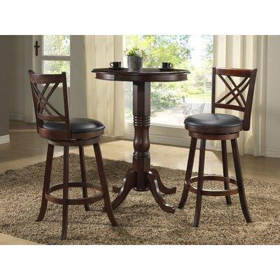 Eci Furniture Distressed Walnut 29 Swivel Bar Stool With Cushion Reviews Wayfair