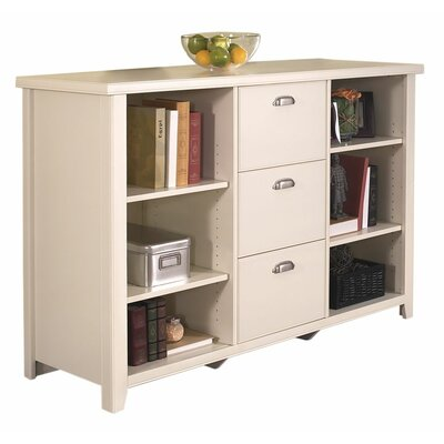 "kathy ireland Home by Martin Furniture Tribeca Loft 41"" H White Three-Drawer File/Bookcase"