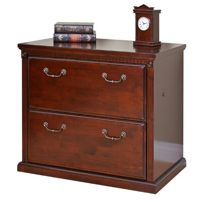 Huntington Club 2-Drawer Lateral File Cabinet by kathy ireland Home by Martin Furniture