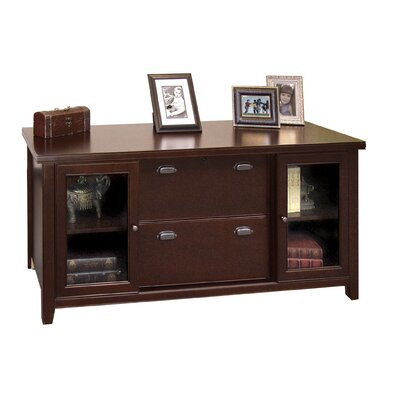 kathy ireland Home by Martin Furniture Tribeca Loft - Cherry 2 Door Credenza