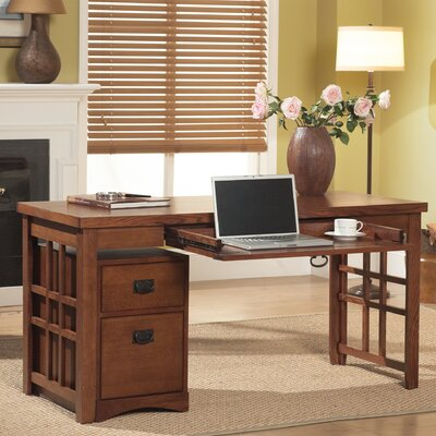 kathy ireland Home by Martin Furniture Mission Pasadena Computer Desk with Keyboard Tray