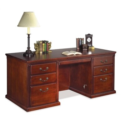 Huntington Club Double Pedestal Executive Desk by kathy ireland Home by Martin Furniture
