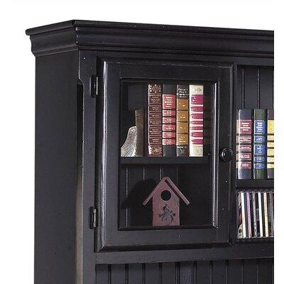 kathy ireland Home by Martin Furniture Southampton Onyx L-Shape Executive Desk with Hutch