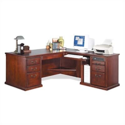 Huntington Club L-Shaped Executive Desk by kathy ireland Home by Martin Furniture