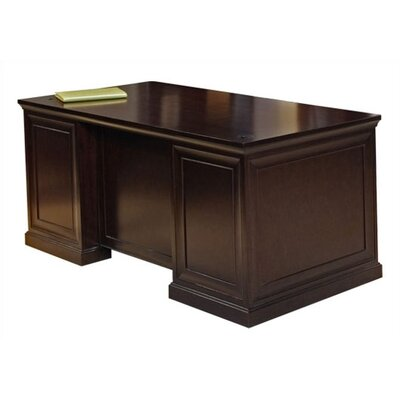 kathy ireland Home by Martin Furniture Fulton Double Pedestal Executive Desk with Wire Management