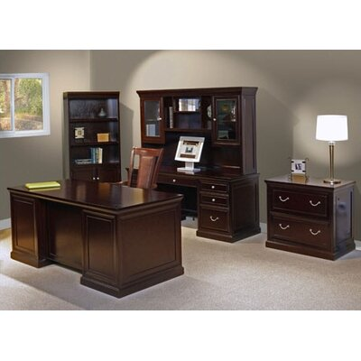 kathy ireland Home by Martin Furniture Fulton 5-Piece Standard Desk Office Suite