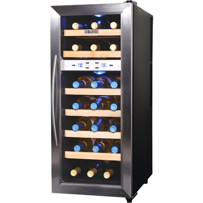21 Bottle Dual Zone Freestanding Wine Refrigerator by NewAir