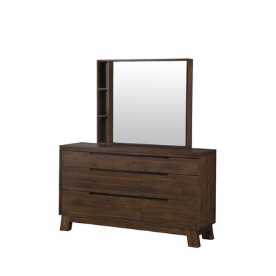 Modus portland 6 drawer dresser with mirror reviews for Z furniture portland