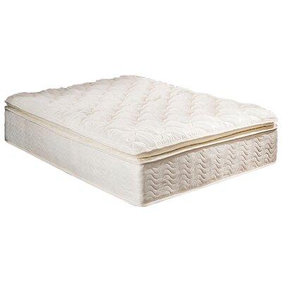 """Textrade 11"""" Innerspring Plush Pillow Top Mattress in a"""