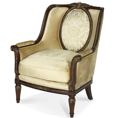 Imperial Court Wood Trim Arm Chair by Michael Amini
