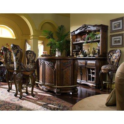Michael Amini Oppulente Bar with Wine Storage