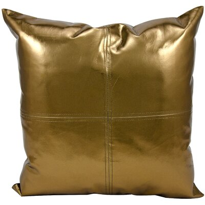Metallic Faux Leather Lumbar Pillow by Michael Amini