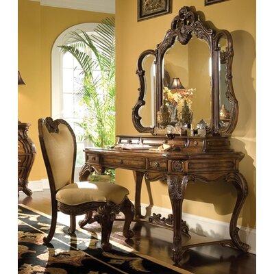 Michael Amini Palais Royale Vanity Set with Mirror