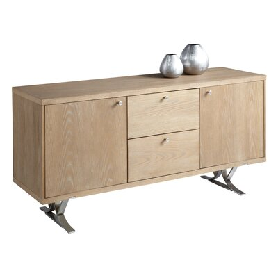 Sunpan Modern Ikon Temple Sideboard in Oak