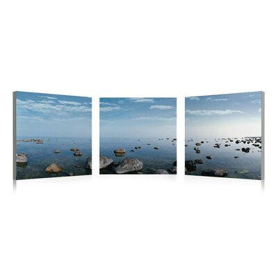 Artistic Bliss Water Rocks 3 Piece Photographic Print Set
