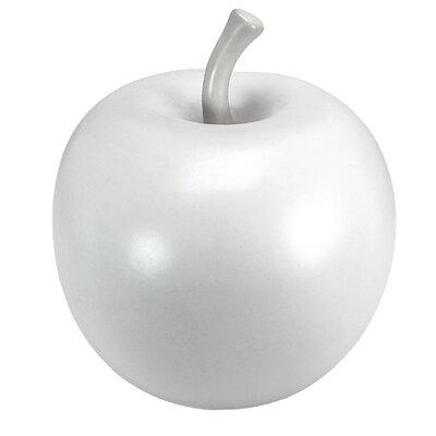 Vita V Home White Ceramic Apple Sculpture
