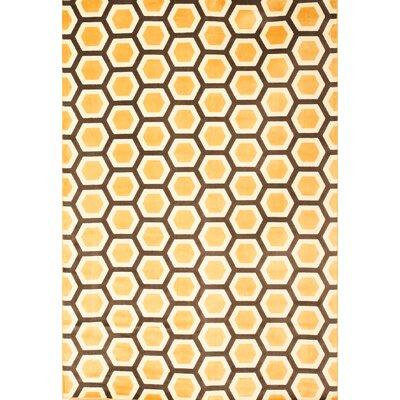 Abacasa Sonoma Tangerine Honeycomb Area Rug
