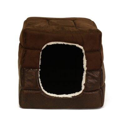 Faux Leather 2-in-1 Pet Cube Cuddler by Best Friends By Sheri