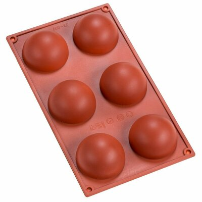 Sorbus 6 Cavity Silicone Half Sphere Mold Pan by GGI International