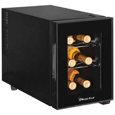 6 Bottle Single Zone Wine Refrigerator by Magic Chef