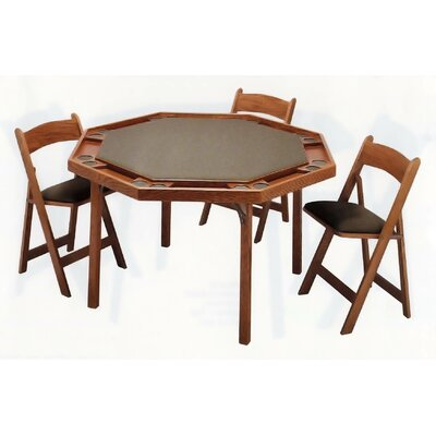 stakmore scalloped edge wood 32 quot folding card table