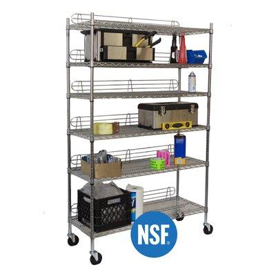 """Trinity NSF 77"""" H 5 Shelf Shelving Unit Starter"""