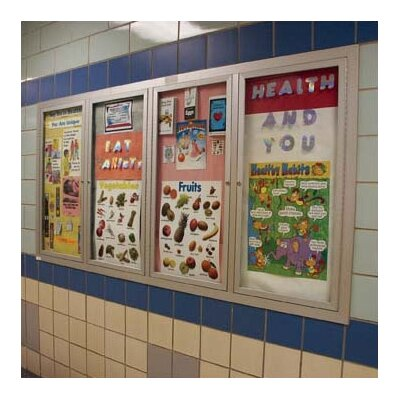 AARCO Recessed Glazed Wall Mounted Enclosed Bulletin Boards