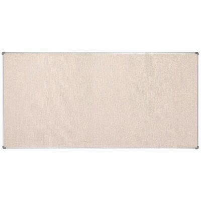 AARCO Burlap Wall Mounted Bulletin Board