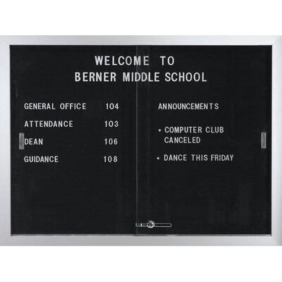 AARCO Directory Enclosed Wall Mounted Bulletin Board