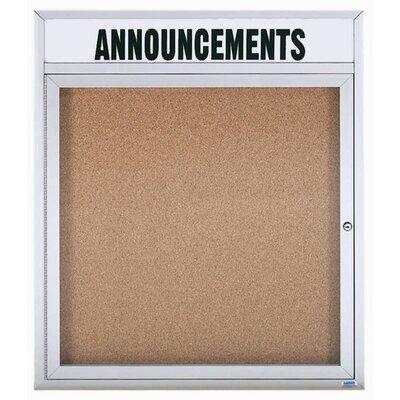 AARCO Enclosed Wall Mounted Bulletin Board