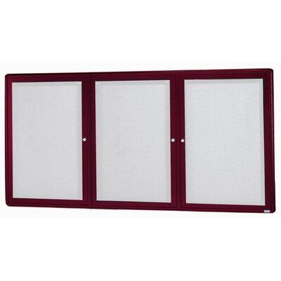 AARCO Radius Design Wall Mounted Enclosed Bulletin Board