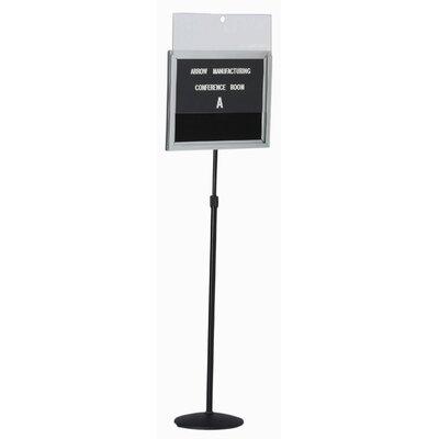 AARCO Single Pedestal Free-Standing Bulletin Board