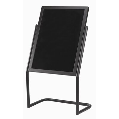 AARCO Dual Capability Neon Marker and Poster Holder Free Standing Chalkboard