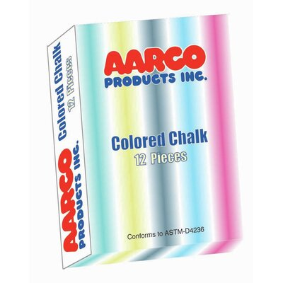 AARCO 12 Piece Colored Chalk Box