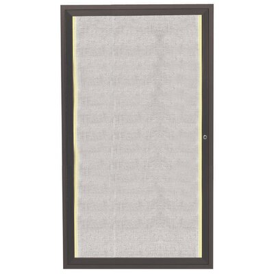 AARCO Enclosed Wall Mounted Cabinet Bulletin Board, 3' x 2'