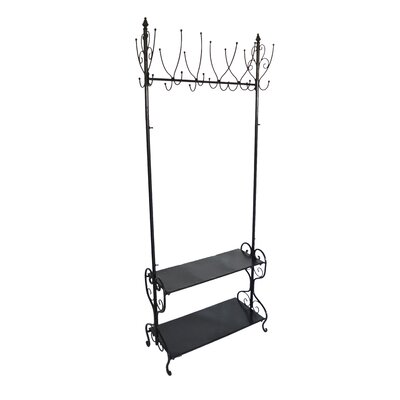 Coat Rack with Shoe Shelf by Fox Hill Trading