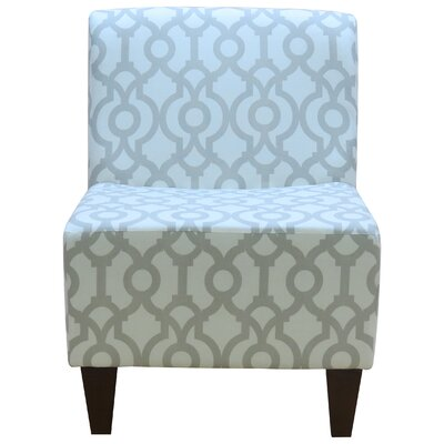 Penelope Armless Lyon French Gray Slipper Chair by Fox Hill Trading
