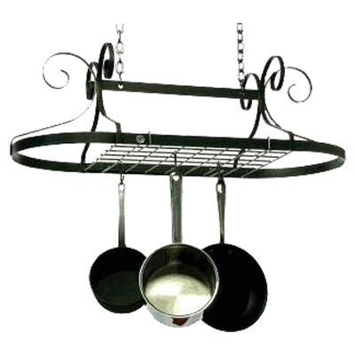 Decor Oval Ceiling Mount Pot Rack by Enclume