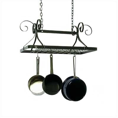 Decor Rectangle Hanging Pot Rack by Enclume
