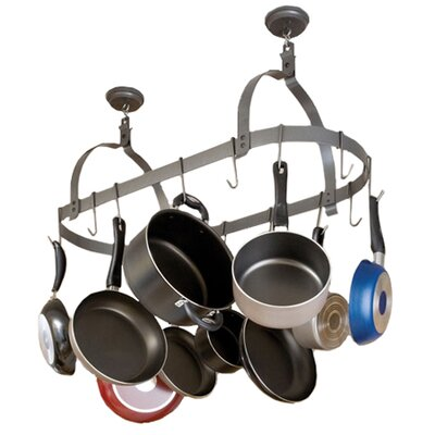 RACK IT UP! Ceiling Oval Hanging Pot Rack by Enclume