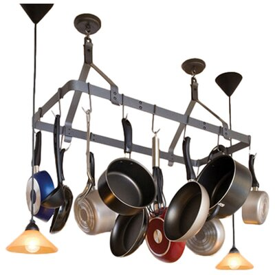 RACK IT UP! Expandable Rectangular Ceiling Hanging Pot Rack by Enclume