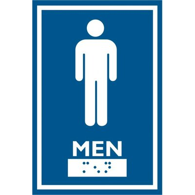 Frost Products Male Symbol Comes with Braille Emboss