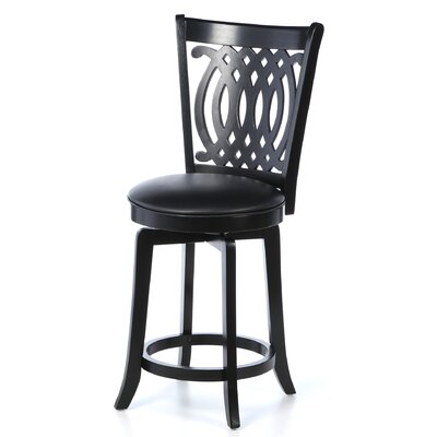 "Hillsdale Furniture Van Draus 24"" Swivel Bar Stool with Cushion"